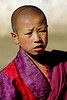 Young Buddhist monk in Paro, Bhutan. South Asia.