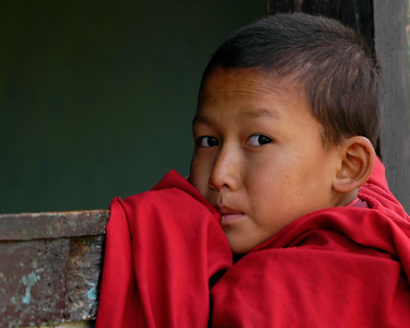 Young monk in Paro, Bhutan.