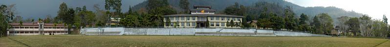 Panoramic image of NIE (National Institue of Education), Samtse, Bhutan