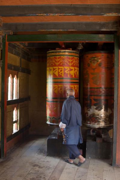 Thimpu. Big Prayer Wheel.