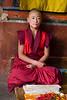 Trashi Chone Dzong, Thimpu, Monk Studying