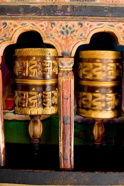 Thimpu. Small Prayer Wheels.