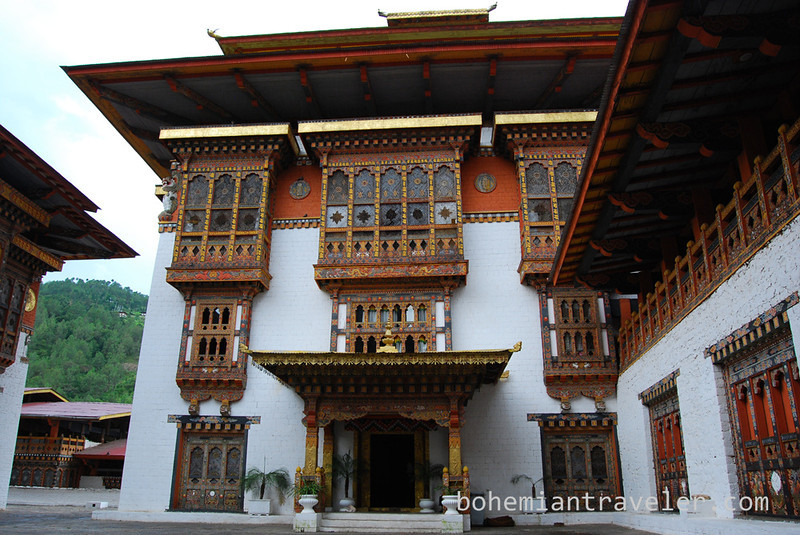Inside Punakha Dzong, Punakha, Bhutan.