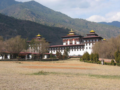 Government headquarters in Thimphu
