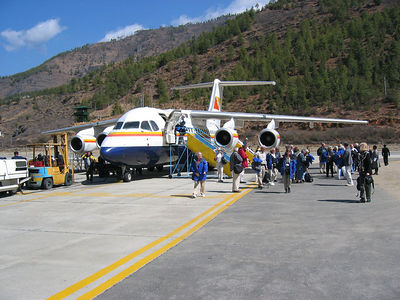 If you want to fly to Bhutan, your going to take Druk Air and experience a fantastic approach.