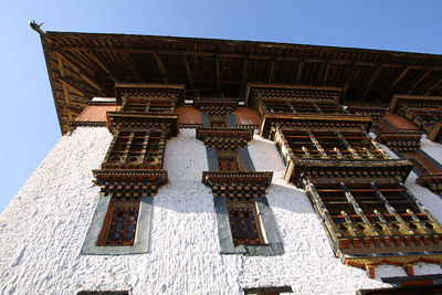 Dzong architecture is a distinctive type of fortress architecture found in the former and present Buddhist kingdoms of the Himalayas, most notably Bhutan.