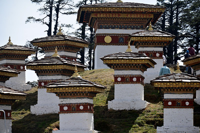 A few of the 108 stupas at the magnificent Dochula Pass