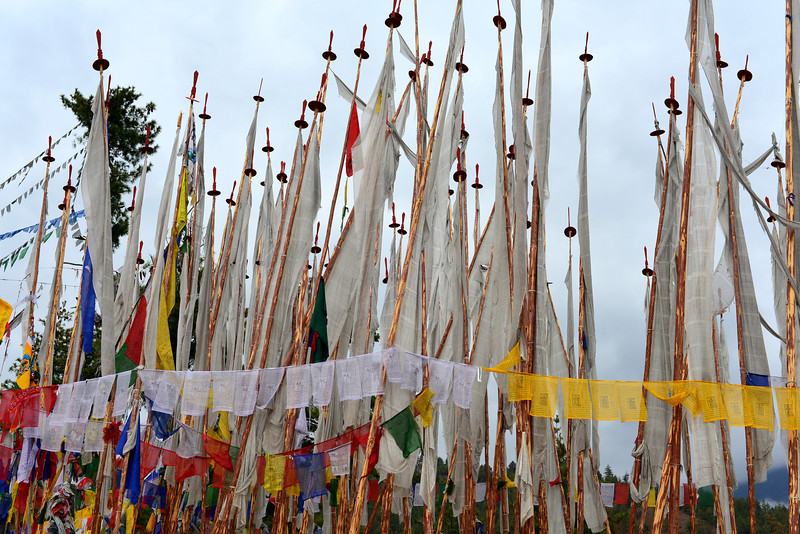 Prayer flags at the BBS tower