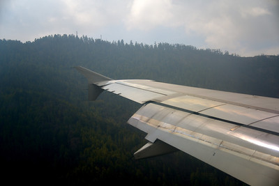 Landing in Paro Valley did feel like the airplane wingtips would brush against the mountainside!