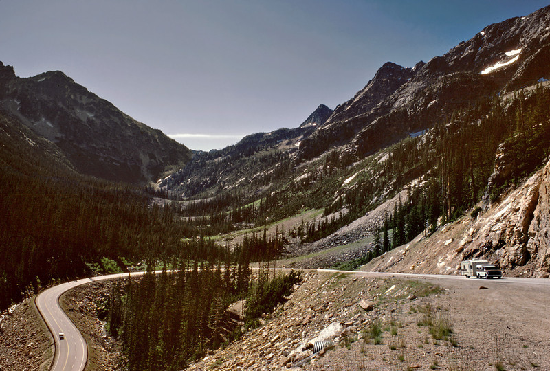 One of many switchbacks on highway 20 over Washington Pass.