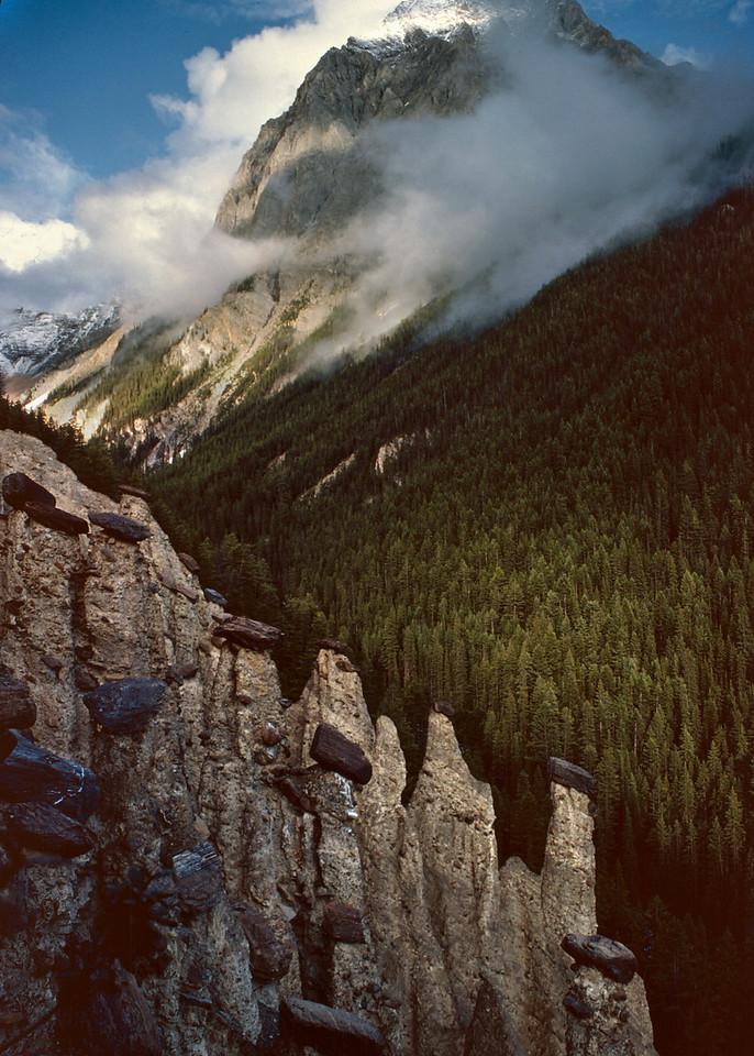 Hoodoo Creek Campground, Yoho National Park, British Columbia, Canada.