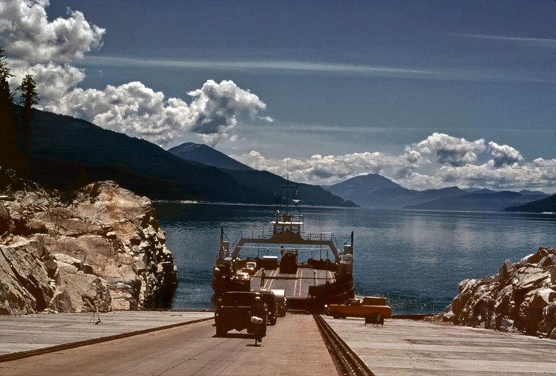 Highway 23 south from Revelstoke, British Columbia follows Upper Arrow Lake - and crosses it by a ferry to Galena Bay.