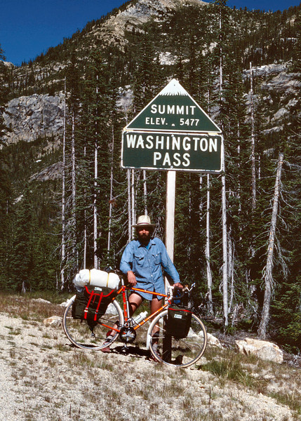 Gary at the summit of Washington Pass (elevation 5477 ft) on Highway 20 across the North Cascades of Washington.
