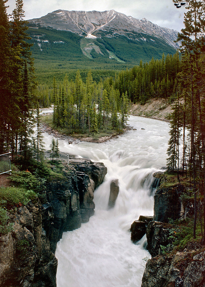 Athabasca Falls; Jasper National Park. Canadian Rockies; Day 9; June 28; 1977.