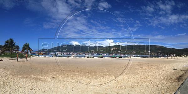 A view of Praia dos Anjos in Arraial do Cabo, Rio de Janeiro state, Brazil during a bicycle trip to Rio das Ostras.  (Australfoto/Douglas Engle)