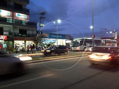 The bus station in Rio das Ostras, Rio de Janeiro state, Brazil. Bus to Rio de Janeiro city takes 3 hours. (Australfoto/Douglas Engle)