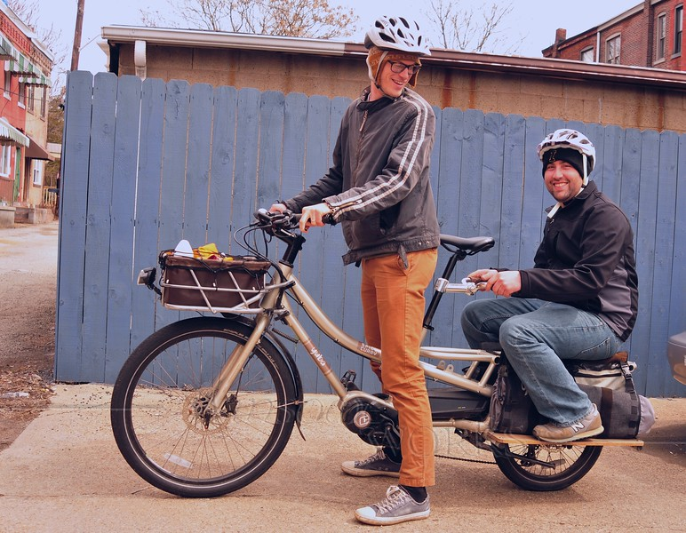 "Michael & Bryan on the Yuba ""Spicy Curry"" Cargo Bike"