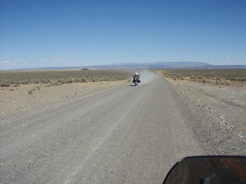 After French Glen on Rock Creek Desert road, headed west towards Paisley,<br /> through Hart Mountain range.