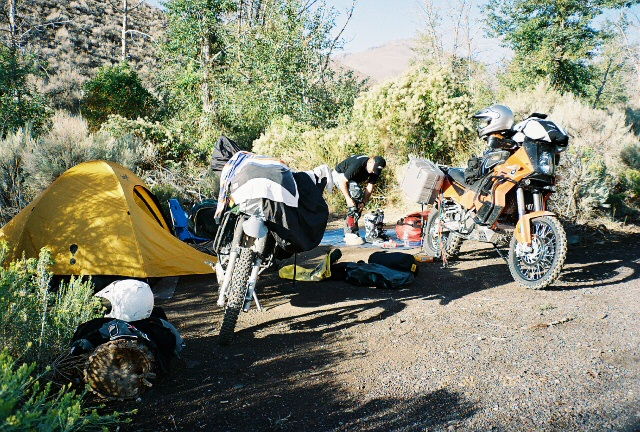 First nights camp, Cottonwood Creek, just outside of Fields Station.