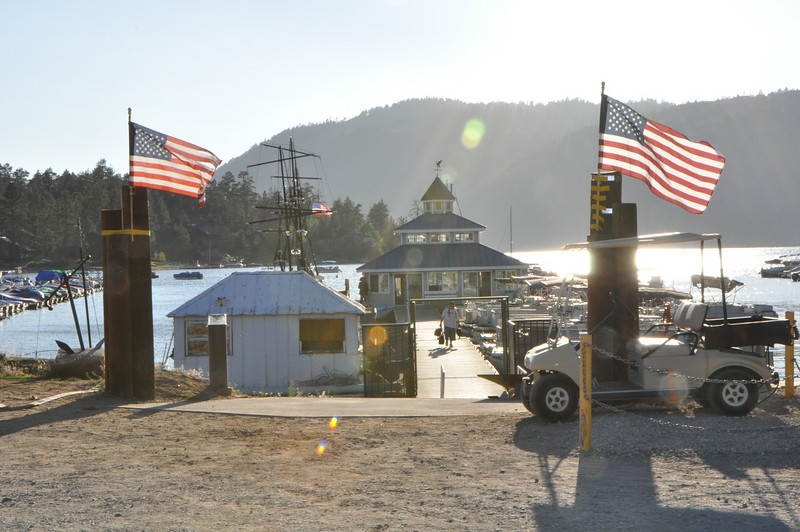 I'm now camped at Holloway's on Big Bear Lake.