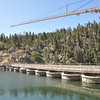 They are building a bridge to bypass driving directly over Big Bear Dam (it was built back 1911, I think).
