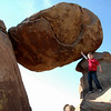 Grapevine Hills trail leads to the Balanced Rock