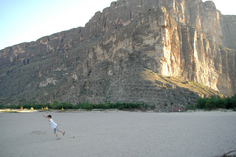 "Santa Elena Canyon ""beach"""