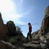 Climbing up to the Balanced Rock
