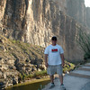 "Santa Elena Canyon with ""Mexico"" looming large in the backdrop"