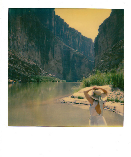 SANTA ELENA CANYON MAIDEN 1<br /> <br /> An unplanned tryptich of Lynne at Santa Elena Canyon.