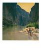 SANTA ELENA CANYON MAIDEN 1<br /> <br /> An unplanned tryptich of Lynne at Santa Elena Canyon.