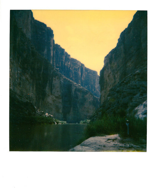SANTA ELENA CANYON MAIDEN 3<br /> <br /> You have to look for her, but she's there. This canyon is truly spectacular, with its walls jutting 1500 feet into the air. Again, another example of faulting.