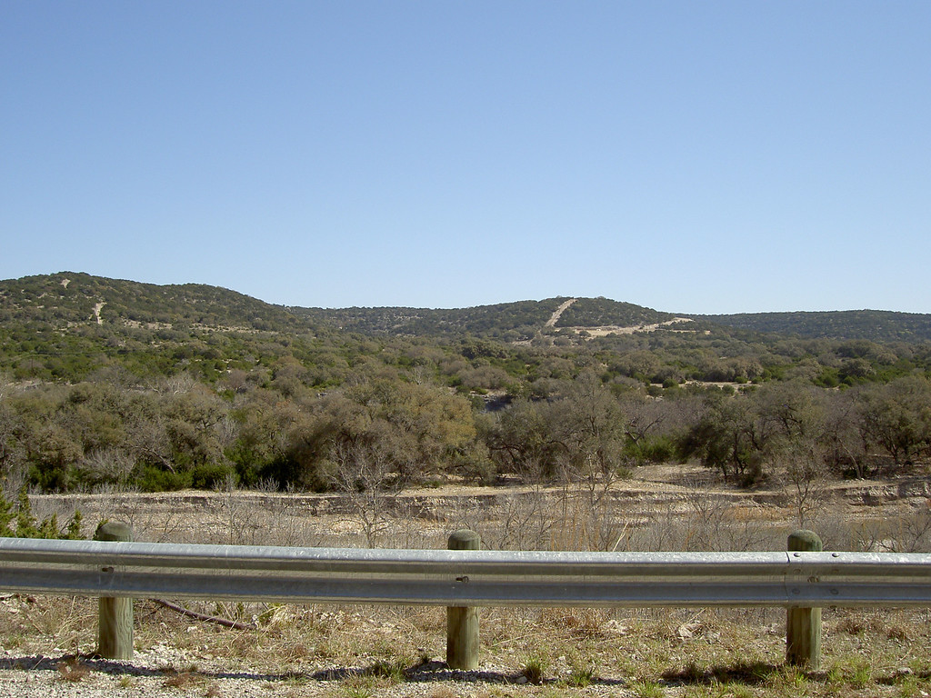 The hills of Texas hill country.