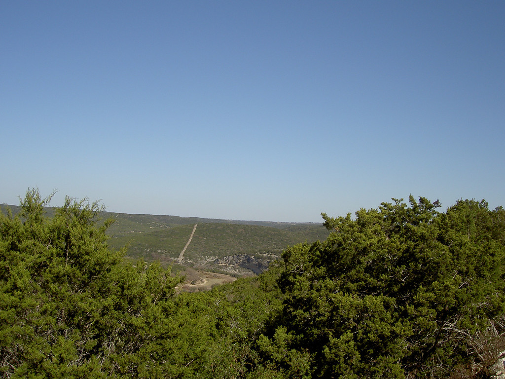 Viewpoint from one of the twisted sisters of Hill Country