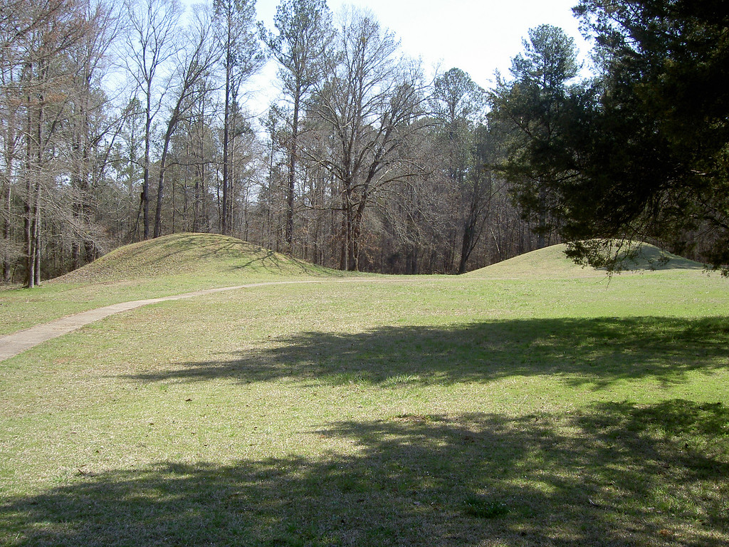 Indian Mounds...looks surprisingly like mother earth to me. Anyways...along the Natchez Trace Pkwy