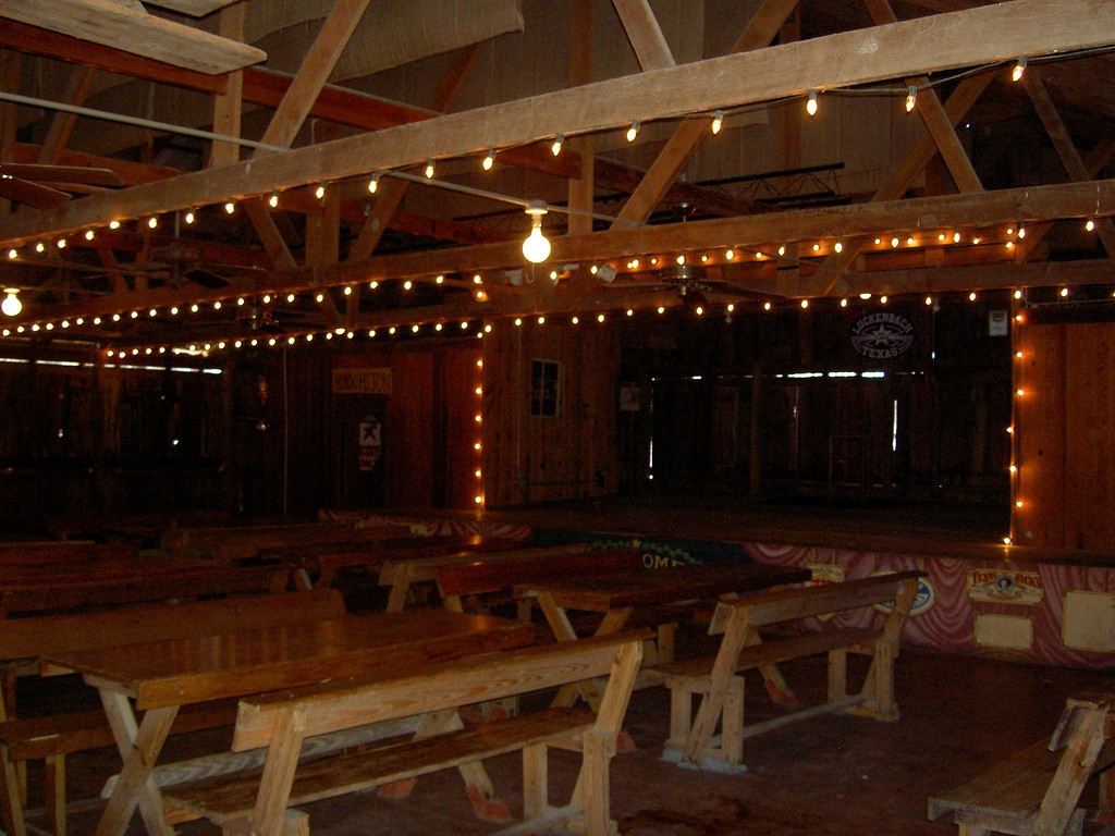 Inside the dance hall at Luckenbach where local and famous talents sometimes show up to play