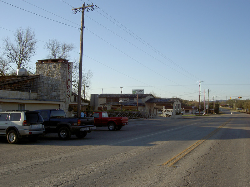 Main St. Leakey Tx before anyone is stirring..not even a mouse