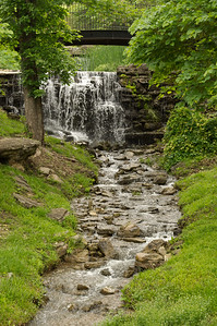 A waterfall at Big Cedar Lodge