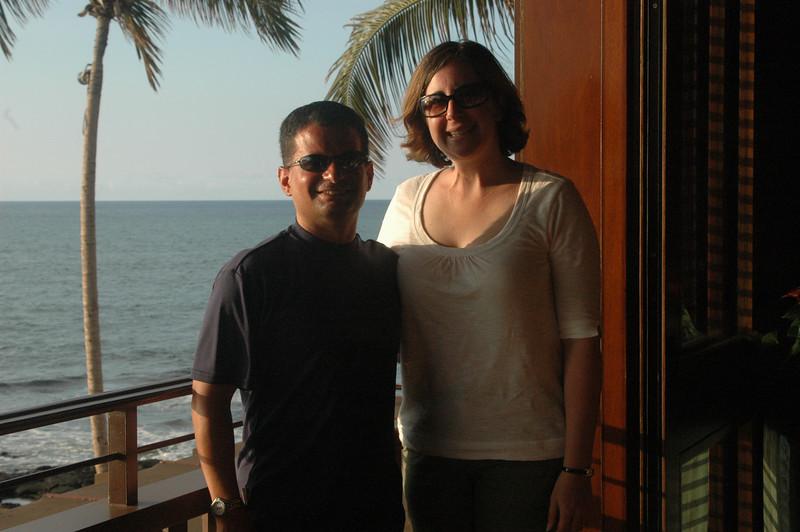 Neil and Sherri just before leaving the beautiful Four Seasons Haulalai