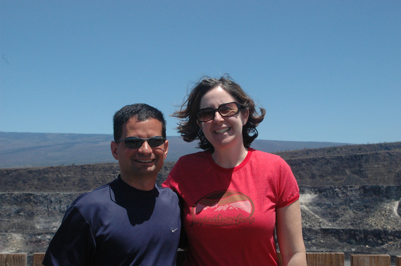 Neil and Sherri at the top of Kilauea.