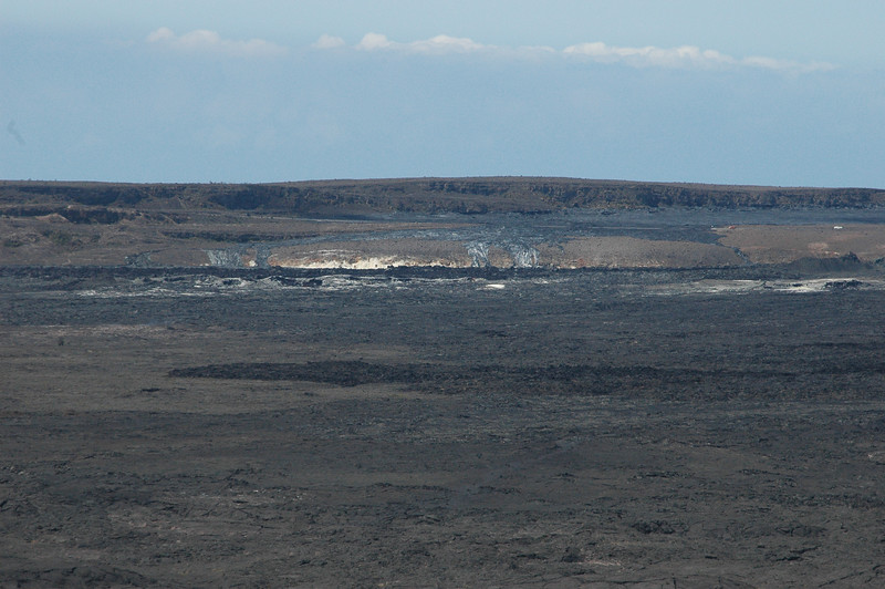 The top of Kilauea volcano.