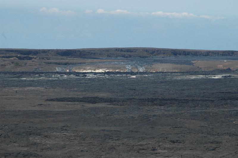 The top of Kilauea volcano.