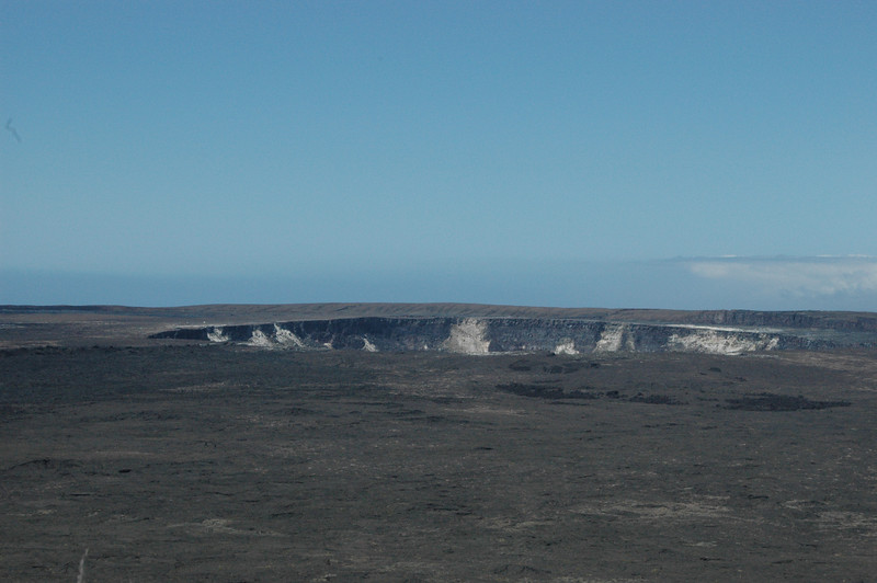 The Kilauea Caldera at Hawaii Volcanoes National Park