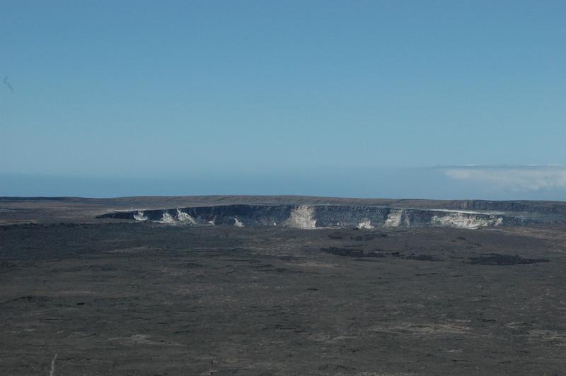 The Kilauea Caldera at Hawaii Volcanoes National Park