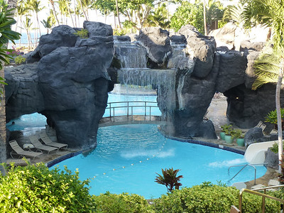 One of the many pools surrounding the hotel