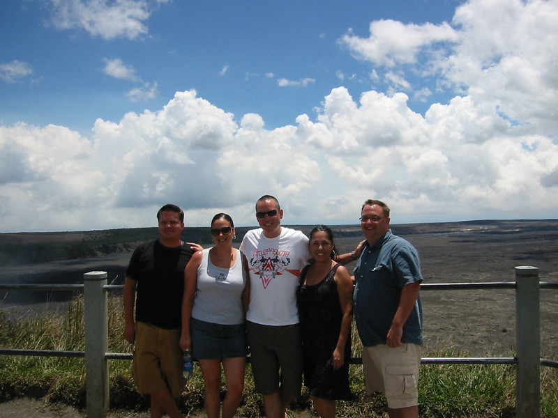 Matt, Suzi, Jason, Jessica and Lewis at the Volcano