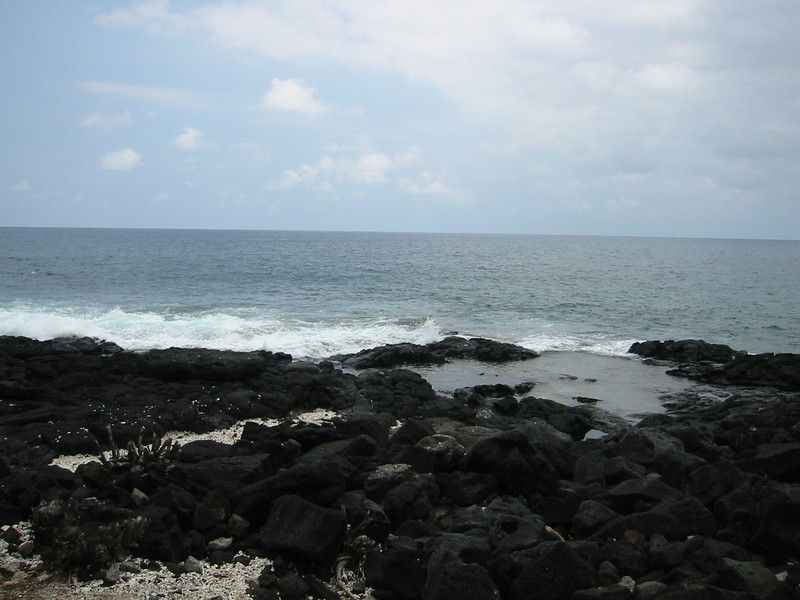 The tide pools.
