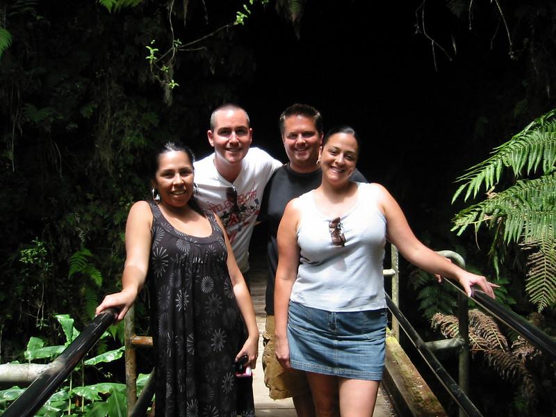Jessica, Jason, Matt and Suzi as we walk into the lava tube.