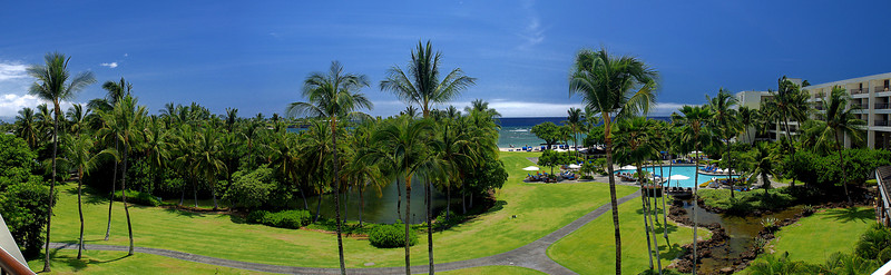 Ocean View<br /> From our balcony at 'Mauna Lani Bay Resort'<br /> 180 degree Panorama