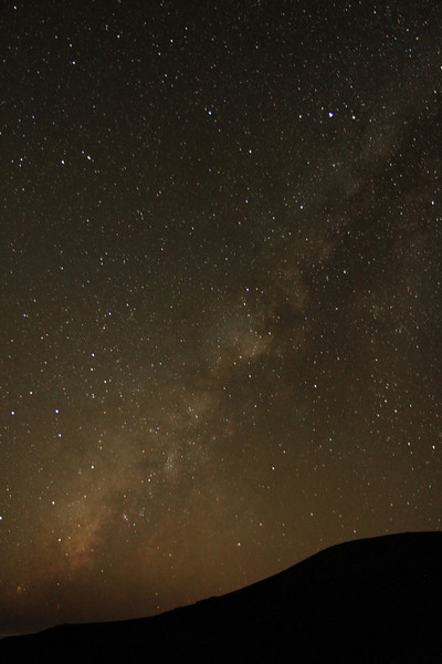 The Milky Way from about 13,000 feet up Mauna Kea.